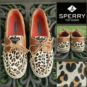 Sperry Top-Sider Bahama Leopard Pony Hair Shoes